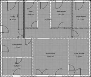 Grundriss unser haus blog - Badezimmer 15qm ...